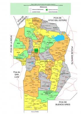 Mapa Provincia De Cordoba Politico.Cordoba Mapa Politico Argentina